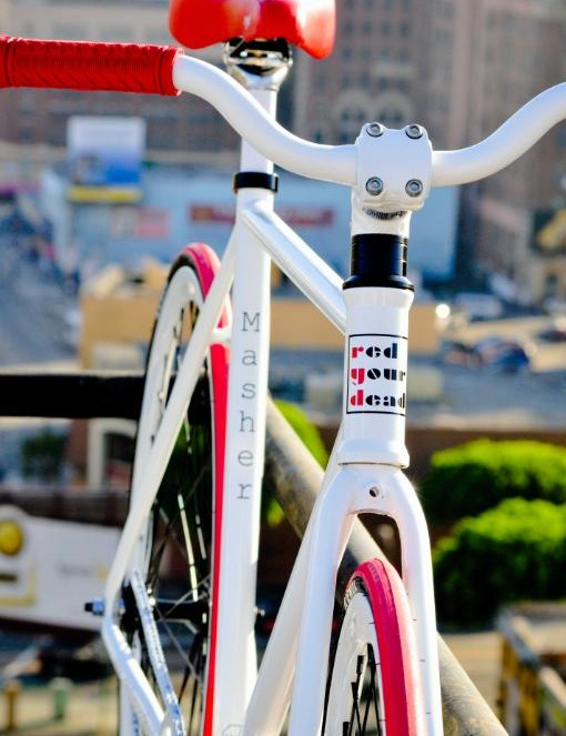 Rider bars, short stem and no brakes equals fun bar spins.