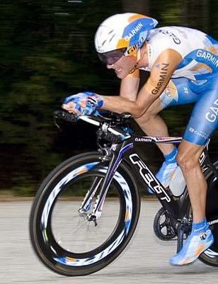 Dave Zabriskie won his fourth consecutive US national time trial championship in Greenville, South Carolina on August 29, 2009.