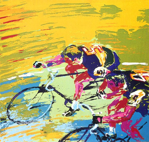 """""""Indoor Cycling"""", painted in 1979."""