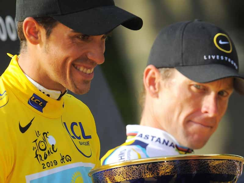 Lance Armstrong (R) has an eye on the Tour de France crown