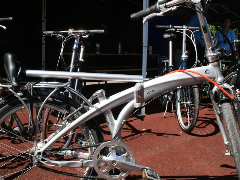 Dahon's folding bikes have pumps concealed as part of the seatpost