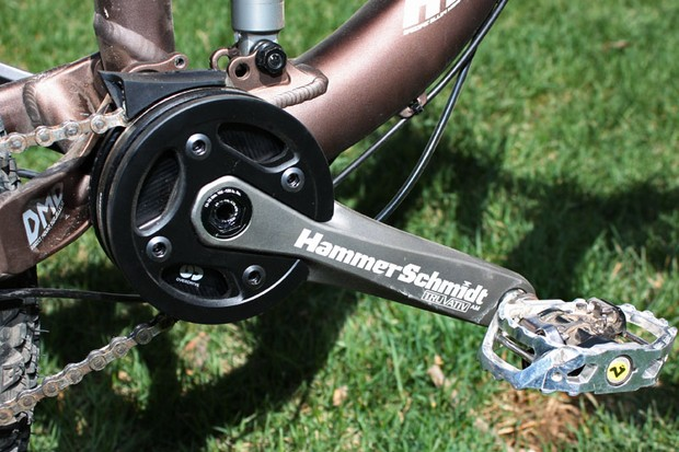 Truvativ's HammerSchmidt offers 'right now' two-speed capabilities that don't require you to ease off the gas during shifts, all wrapped in an impressively compact package.