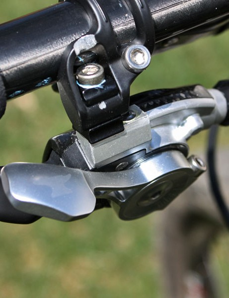 The shifter is a near carbon copy of SRAM's existing X.0 trigger and a cheaper X.9 version is also available.  The action on the HammerSchmidt version is reversed, though.