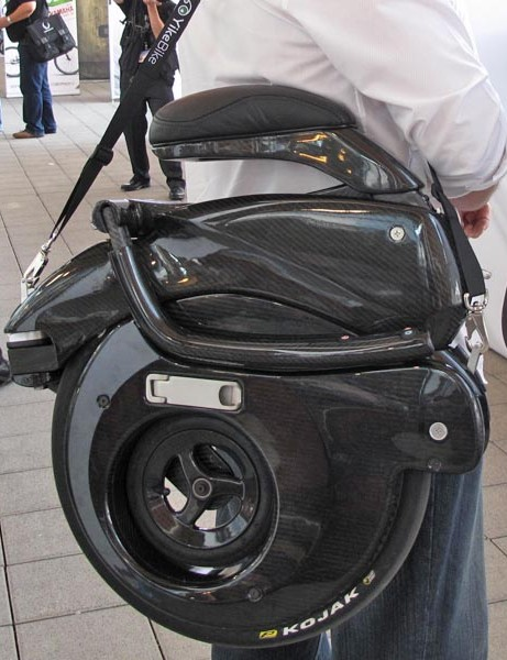 YikeBike folded in its bag