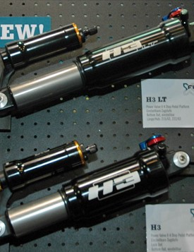 X-Fusion were showing off these H3 piggy-backed shocks at Eurobike