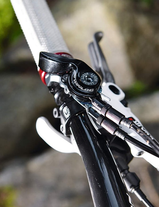 new for 2010, the  twinloc lever adjusts  both shock and fork