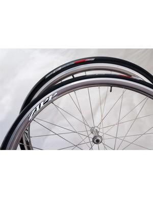 The US$1,300 Zipp 101 aluminium aero road wheelset, now available.