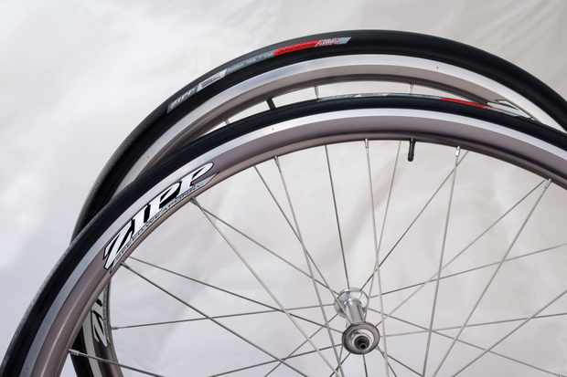 The US$1,300 Zipp 101 aluminium aero road wheelset, now available.