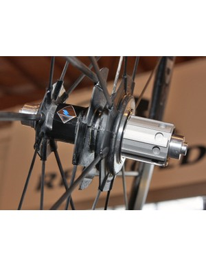 The alloy freehub body and driver mechanism is custom built for Reynolds by German manufacturers Tune