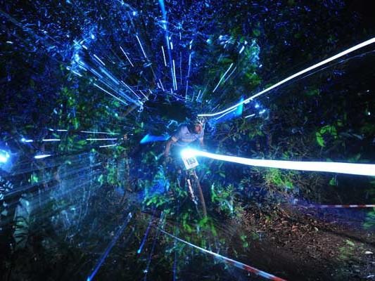 Steve Webb blazes a trail through the night at the TORQ 12:12