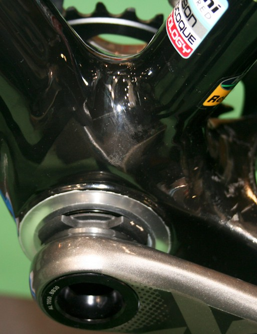 The methanol's BB30-compatible bottom bracket shell