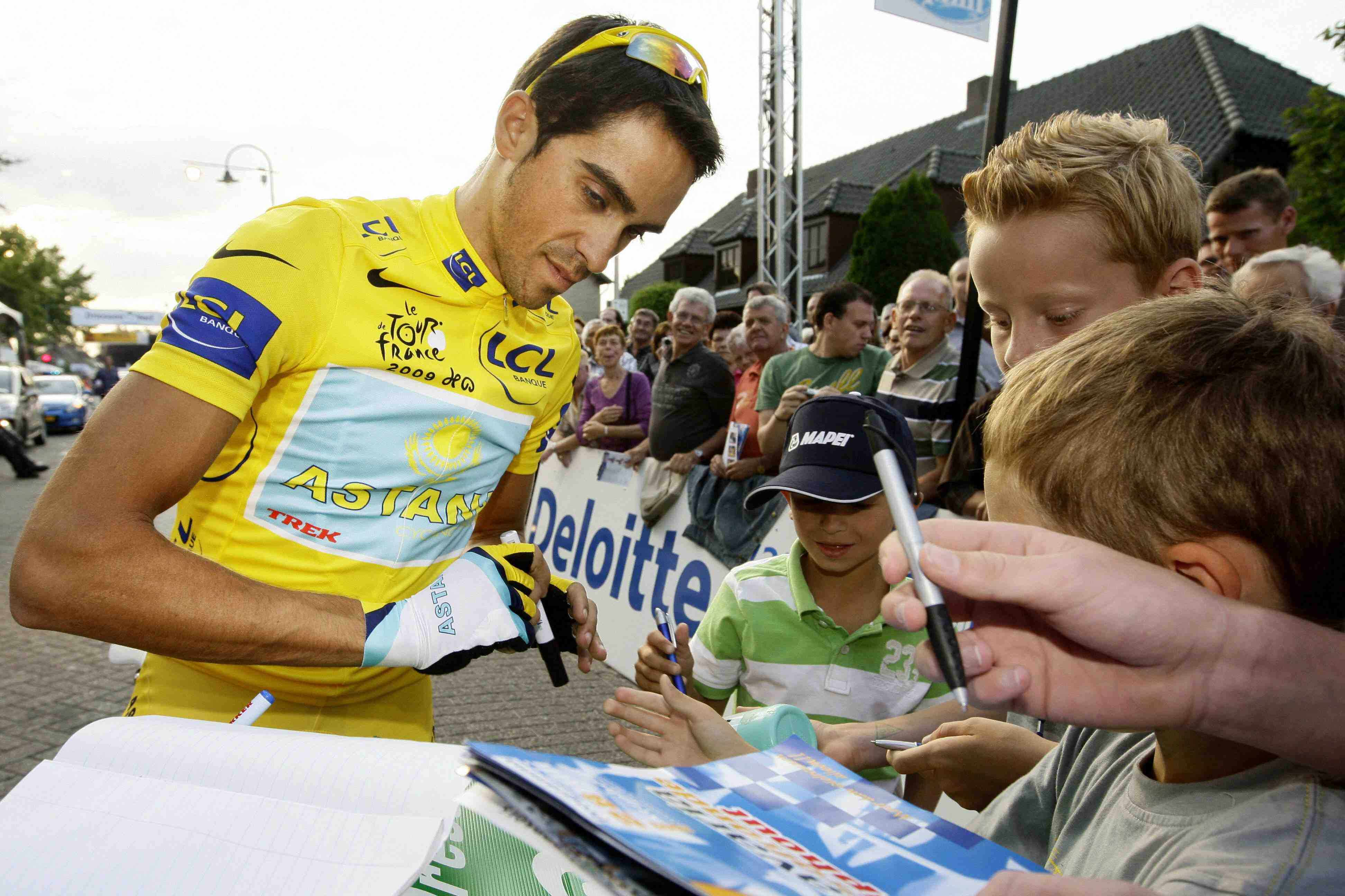 Spaniard Alberto Contador is fielding offers for 2010.