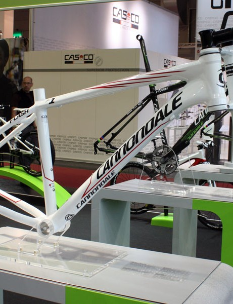 Cannondale will also offer the aluminium Flash frame separately for racers on a budget.  Claimed frame weight is just 1.4kg (3.09lb).