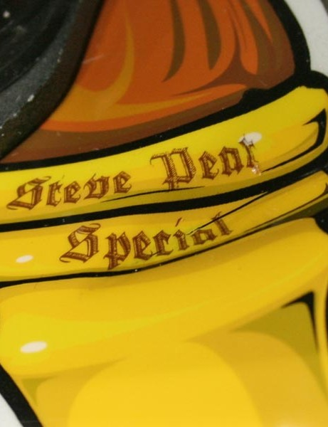 Steve Peat's special edition lid with a pub flavour
