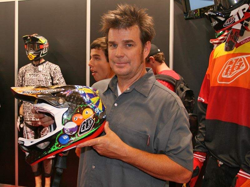 Troy Lee with his new baby
