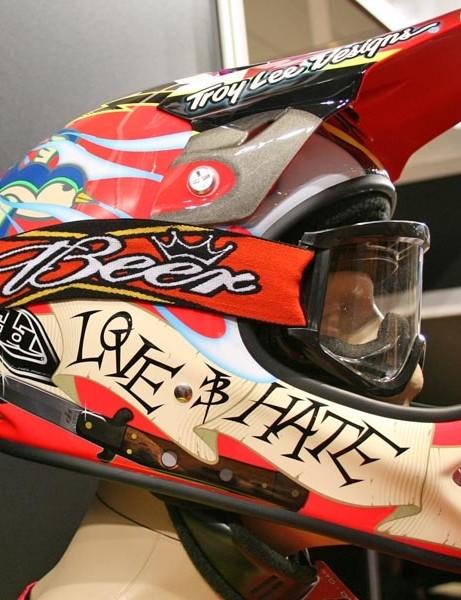 Love Hate helmet