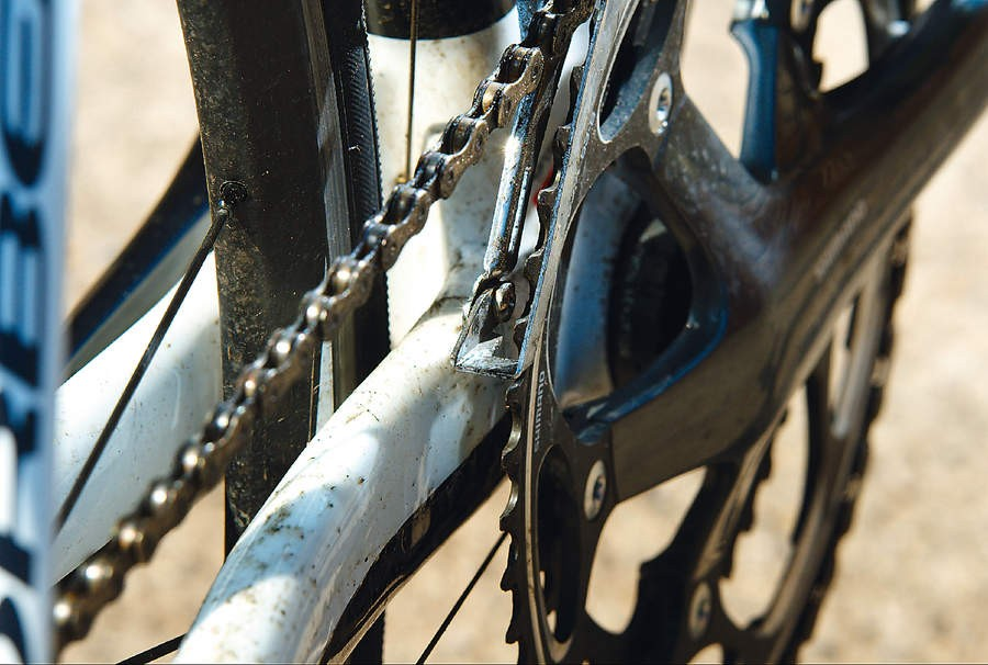 The frame's man enough to cope with powering non-compact chainrings round