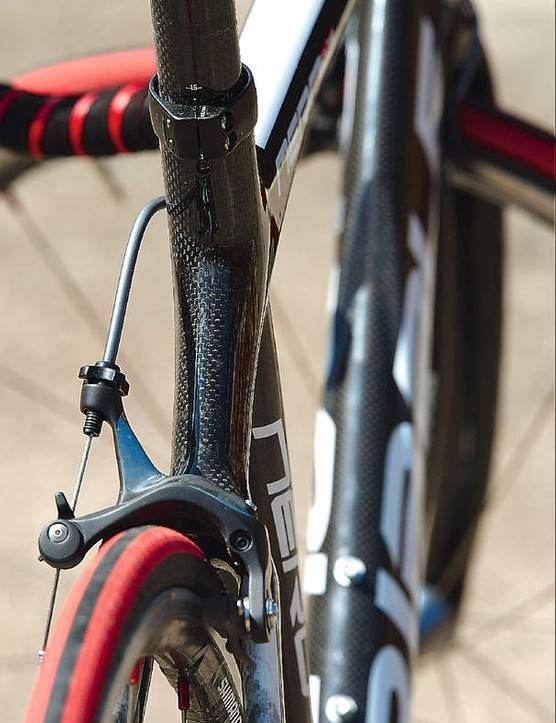 The Ribble comes with a Dura Ace groupset, including these lightweight brake calipers