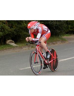Michael Hutchinson, runner up in the men's behind Wiggins