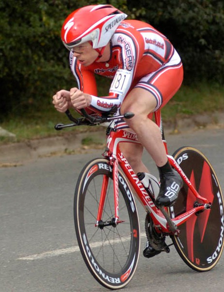 Michael Hutchinson, runner up in the men's behind Wiggins