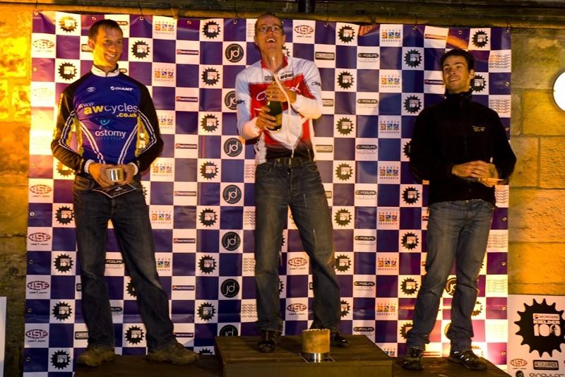 The open men's podium at the Kielder 100