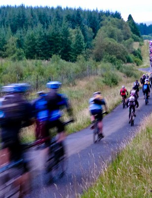 Riders set out on the Kielder 100