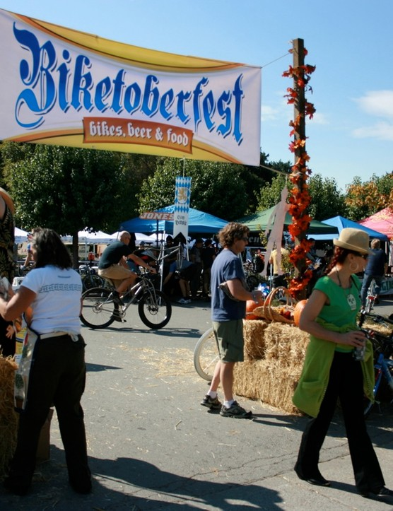 Crowds were thick at the 2008 Biketoberfest in Fairfax, CA.