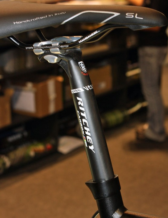 Canyon claims its exclusive Ritchey-made carbon seatpost offers an especially well damped ride.