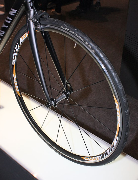 Mounted to the front of this Canyon Ultimate Al display bike was this 3000 Aero wheelset from German compatriot Citec.