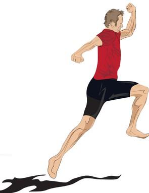 Forward one-legged hops