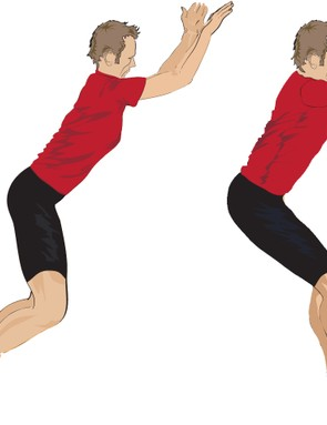 Forward two-legged hops
