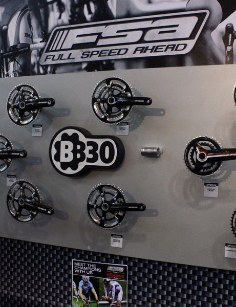FSA offers an impressive broad range of BB30-compatible cranksets.