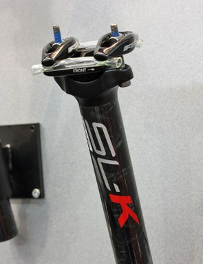 Standard two-bolt seatpost heads now use a lighter clamp mechanism.