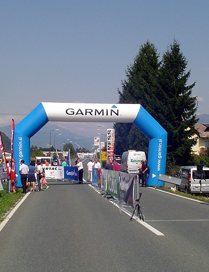 The start/finish of the time trial