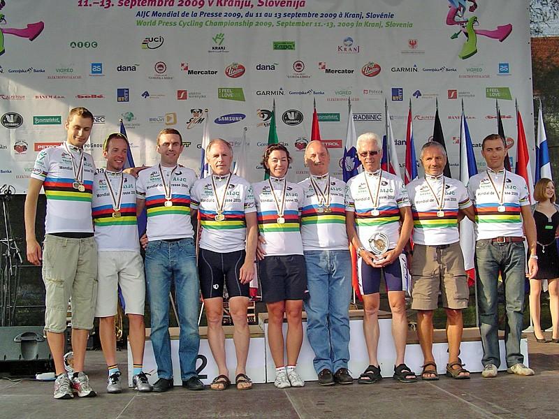 The 2009 world press cycling champions