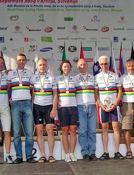 The 2009 world press cycling champions