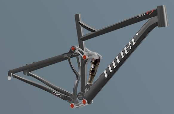 The redesigned 2010 Niner Jet 9 frame.