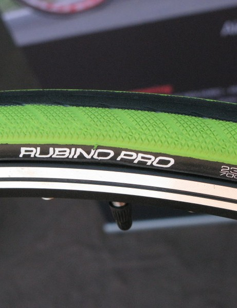 The new Vittoria Rubino Pro – also in 'hand me my shades' green.