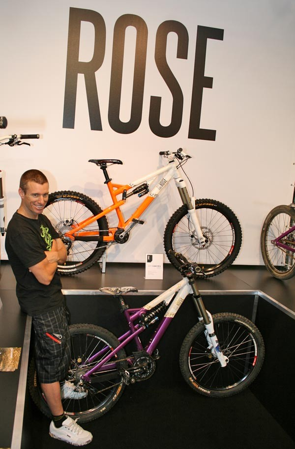 Bobby Root with his Beef Cake downhill rig