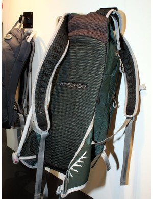 The AirScape back panel features a molded and ridged foam base under the mesh cover for ventilation.