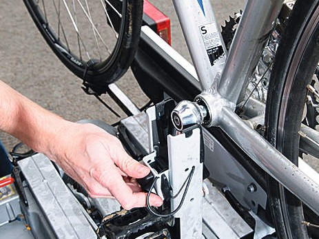 Unfortunately anything other than standard sized modern cranks will not fit this rack