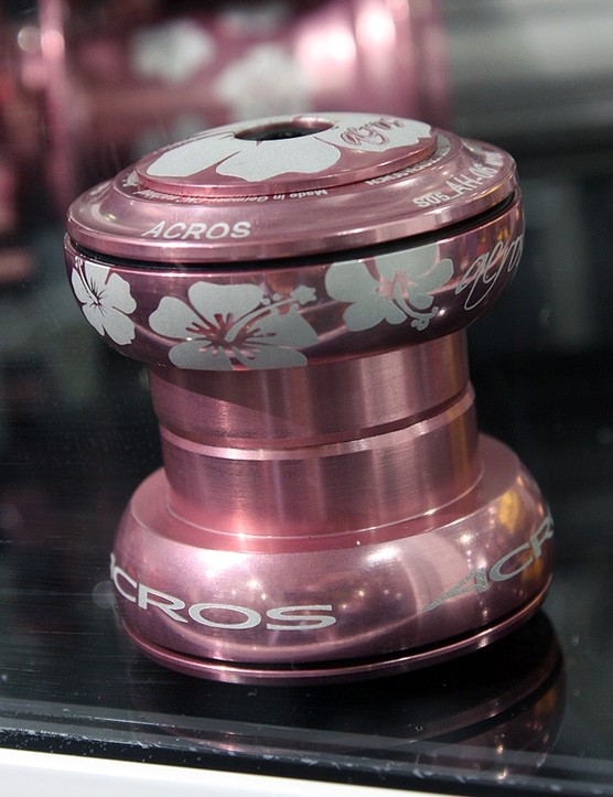 Acros also offers many of its components in special edition finishes. This one's called 'Lady Killer'.