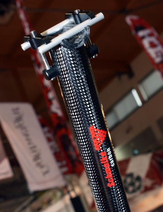 Schmolke TLO carbon seatpost supposedly weighs just 75g in a 27.2x300mm size.