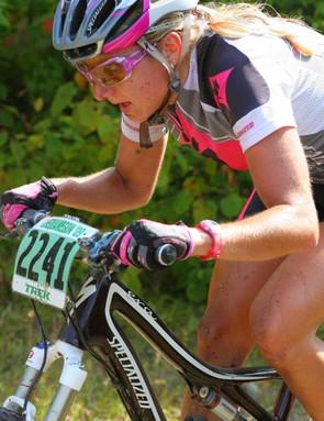 Jenna Rinehart leads the women's field:.