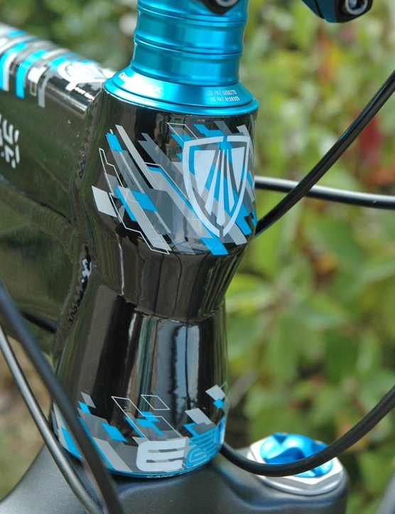 Trek's E2 headtube is used on the Scratch for light weight and stiffness