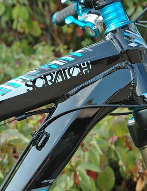 Scratch top tube