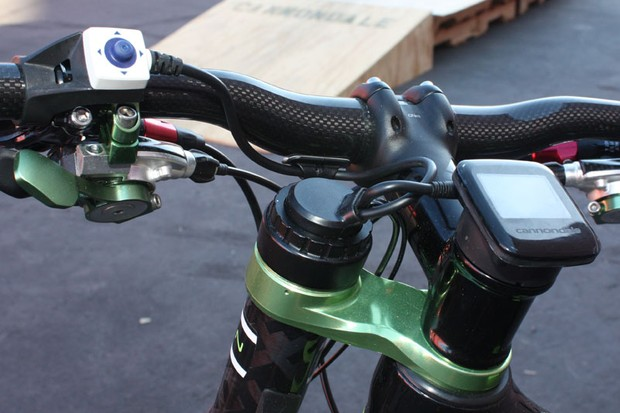 Cannondale's Simon system involves more wires and electronics than usual but even the prototype setup is still reasonably tidy.