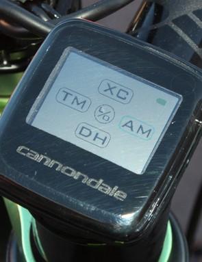The main screen allows riders to easily swap between five main customizable program maps.