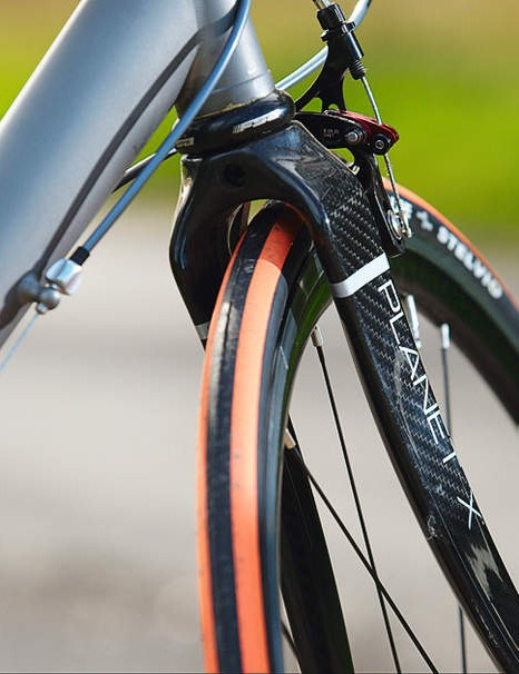 The Planet X fork sucks out the sting  at much lower speeds than other  bikes tested here