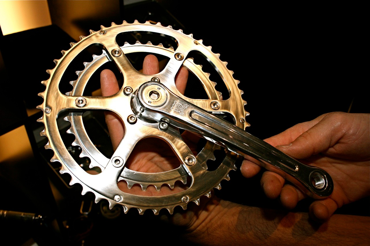 Another view of the Ticino forged crankset.